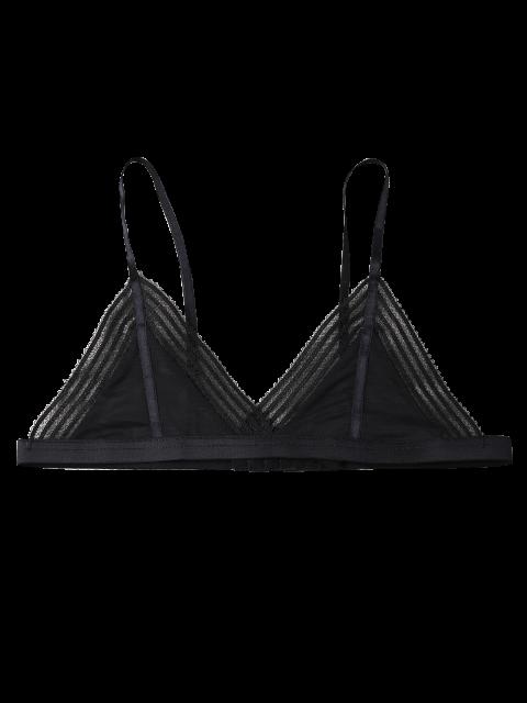 buy Push Up Adjustable Straps Swim Top - BLACK XL Mobile