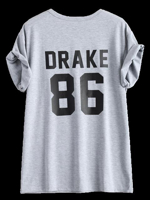 women Drake 86 Graphic Tee - GRAY M Mobile