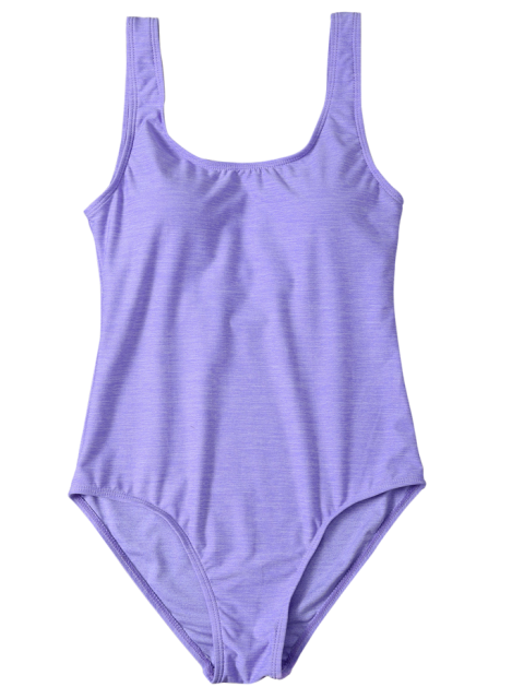 fancy Backless Straps Padded Swimwear - PURPLE S Mobile