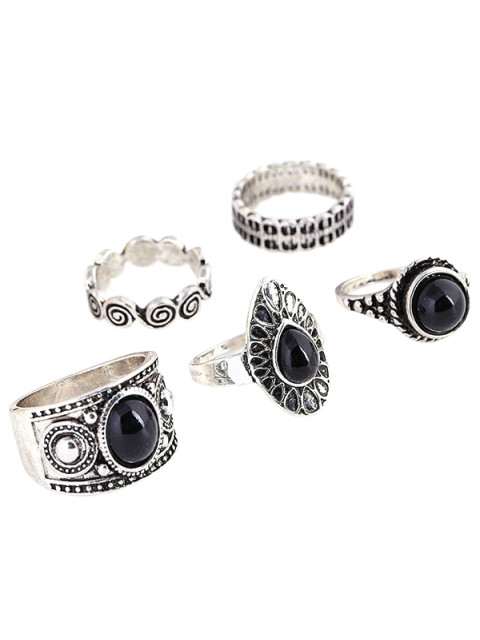 best Water Drop Rings - SILVER ONE-SIZE Mobile