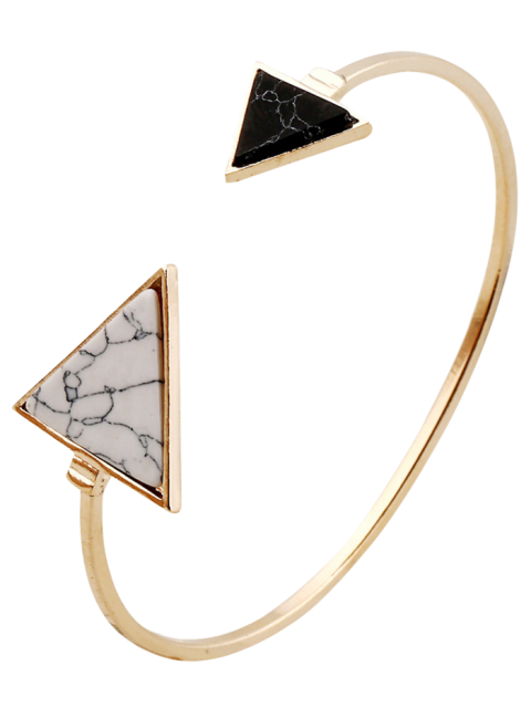 women Stone Triangle Cuff Bracelet - GOLDEN  Mobile