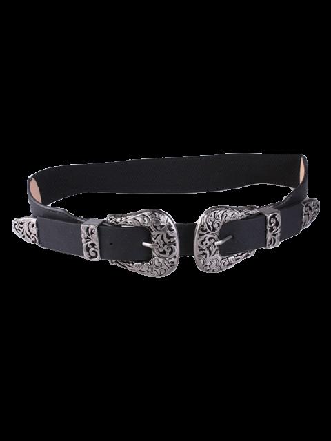 latest Double Filigrain Buckles Belt - DEEP GRAY  Mobile