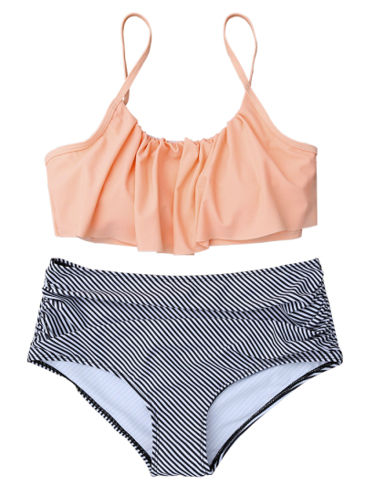 High Rise Flounce Bikini - COLORMIX S Mobile