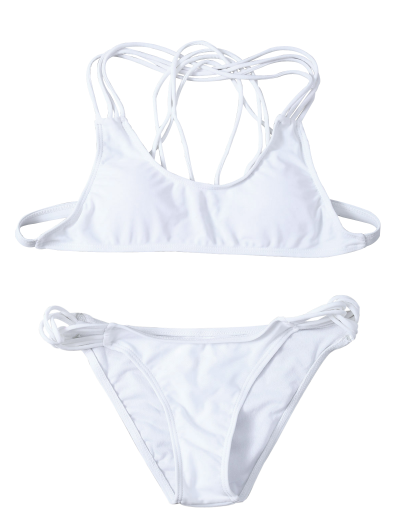 Padded Strappy Bikini - WHITE S Mobile