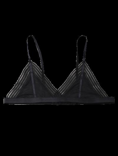 Push Up Adjustable Straps Swim Top - BLACK L Mobile