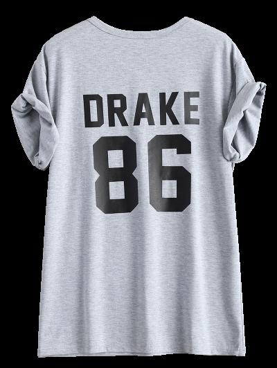 Drake 86 Graphic Tee - GRAY 3XL Mobile