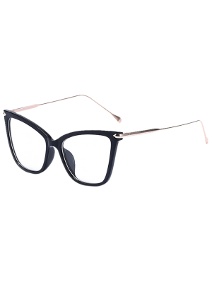Charming Black Butterfly Sunglasses - Transparent