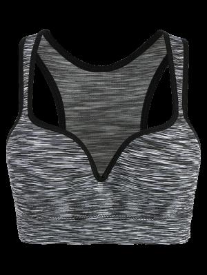Space Dye Low Impact Sports Bra - Gray