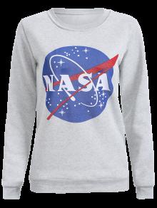 Round Neck Galaxy Print Sweatshirt