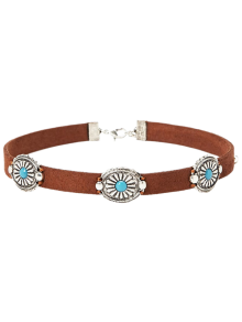 Faux Leather Blossom Choker