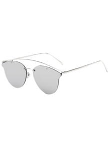 Crossbar Mirrored Butterfly Sunglasses