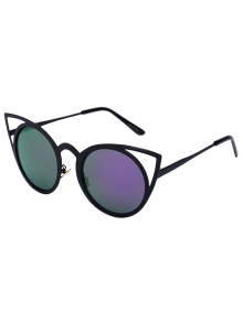 Black Charming Cat Eye Mirrored Sunglasses