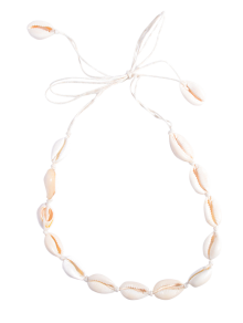 Collier Tours De Cou En Coquillages  - Blanc