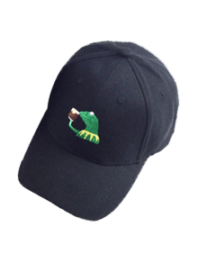 Cartoon Frog Embroidery Baseball Hat