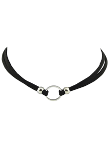 Punk Style Artificial Leather Round Choker