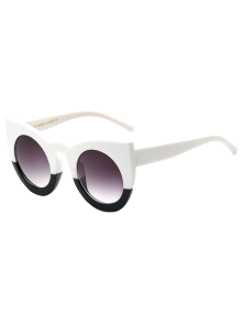 Color Block Cat Eye Sunglasses