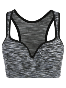 Space Dye Low Impact Sports Bra - Gray