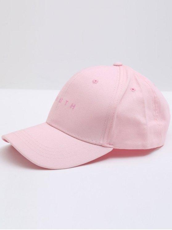 Gorra de béisbol de la letra - Rosa