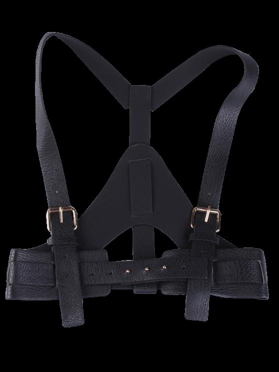 faux leather belt suspenders black belts zaful