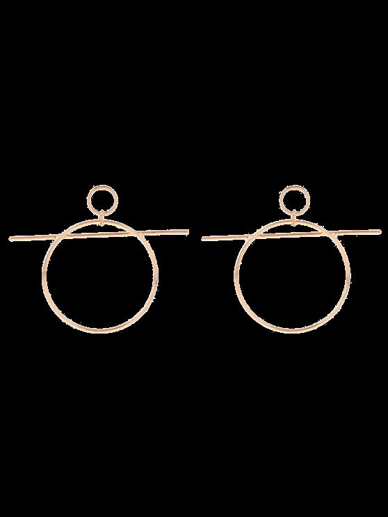 Boucles d'oreilles Simples en Cercle barré - Or