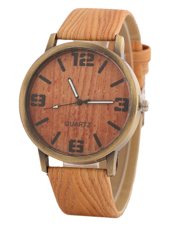 outfit Wooden Pattern Watch - ORANGE
