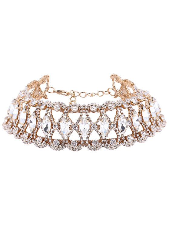 affordable Tear Shape Rhinestoned Choker - CHAMPAGNE GOLD