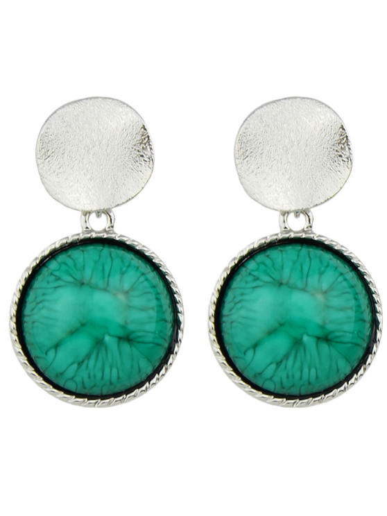 women's Circle Faux Gem Sequin Earrings - SILVER