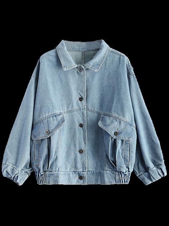 Patch Design Jean Jacket - LIGHT BLUE L Mobile