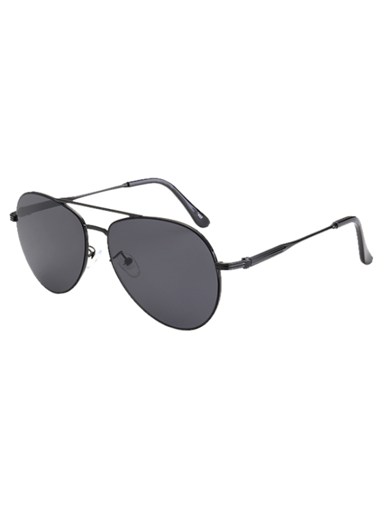 Metal Crossbar Pilot Sunglasses - BLACK  Mobile