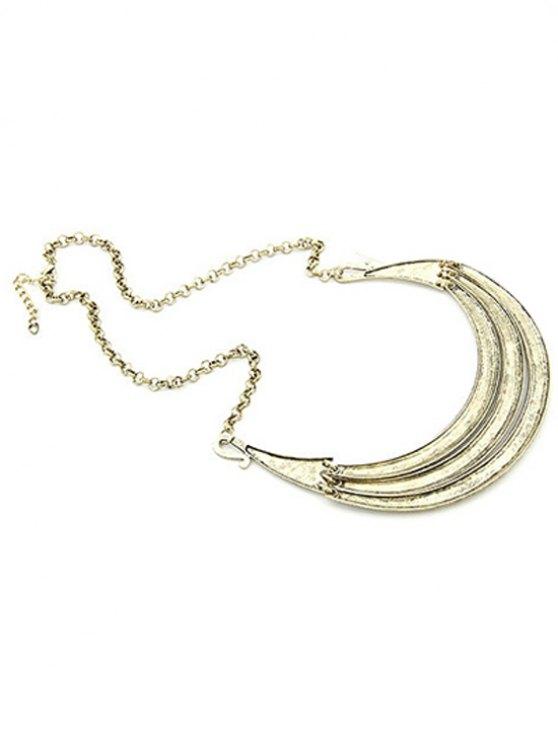 Tribal Style Carve Pendant Alloy Necklace - LIGHT GOLD  Mobile
