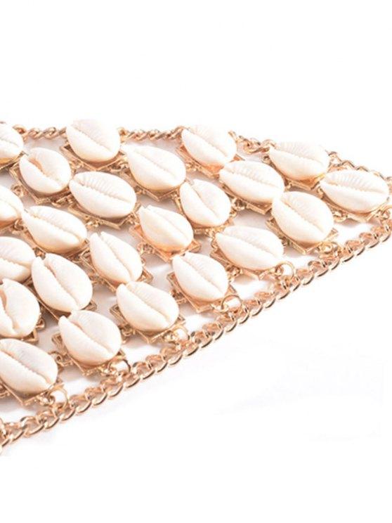 Shells Bra Body Chain - GOLDEN  Mobile