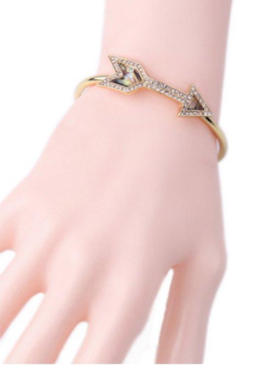 Arrow Rhinestone Cuff Bracelet -   Mobile