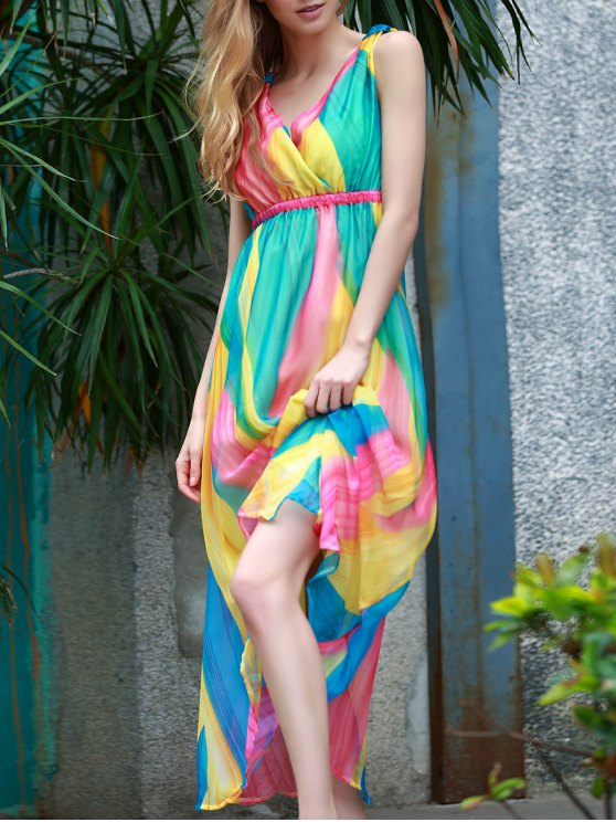 outfits Sleeveless Multi-Colored Sundress - COLORMIX M