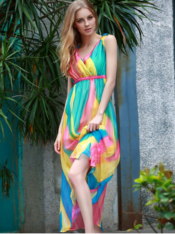 Sleeveless Multi-Colored Sundress - COLORMIX L Mobile