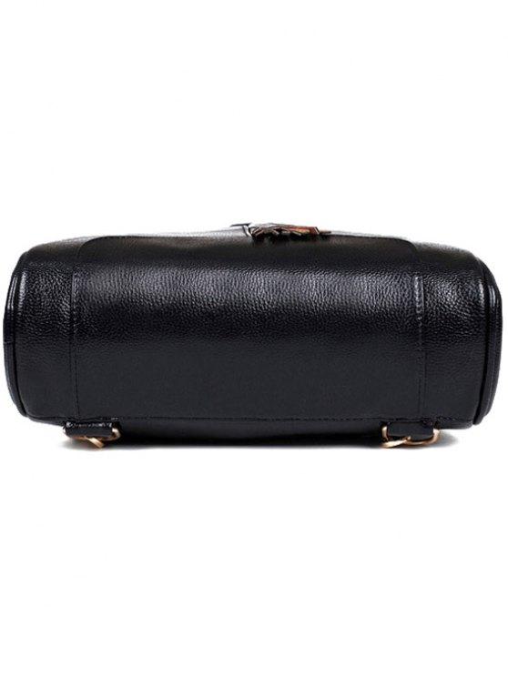 Tassel Solid Color PU Leather Satchel - RED  Mobile