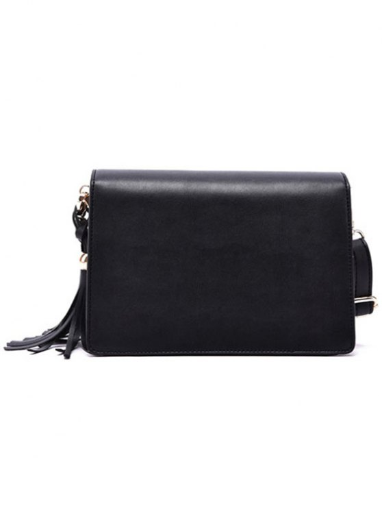 Cover Metallic Tassel Crossbody Bag - OFF-WHITE  Mobile