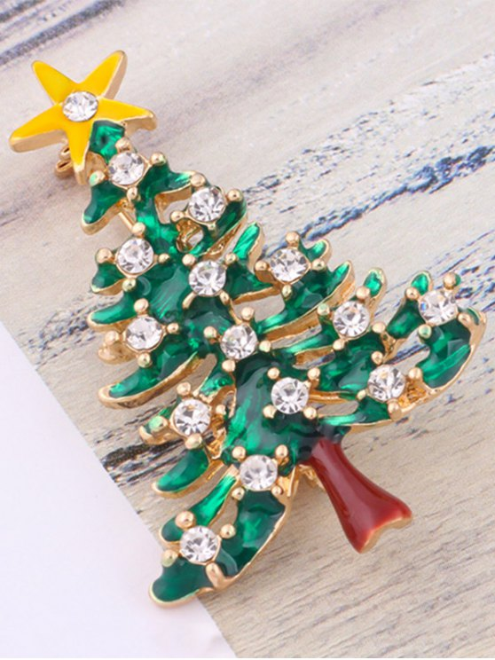 Christmas Trees Resin Brooch -   Mobile