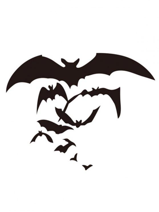 Halloween Bat Pattern Removable Waterproof Room Wall Sticker - BLACK  Mobile