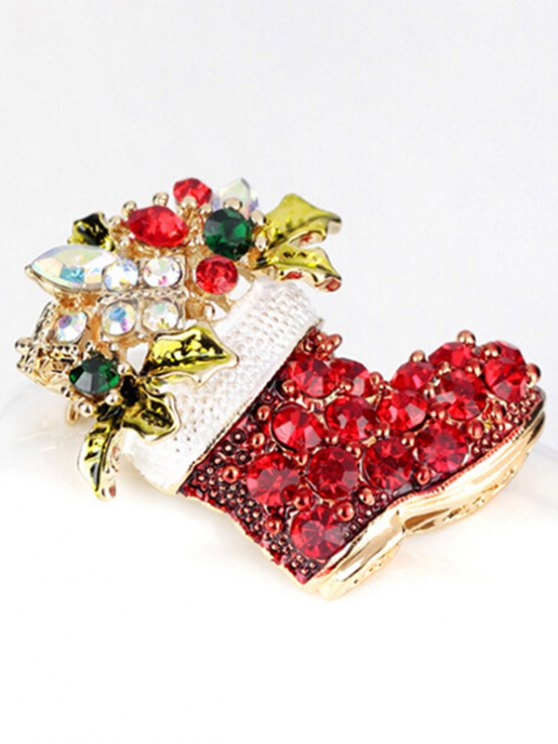Christmas Rhinestone Shoe Brooch -   Mobile