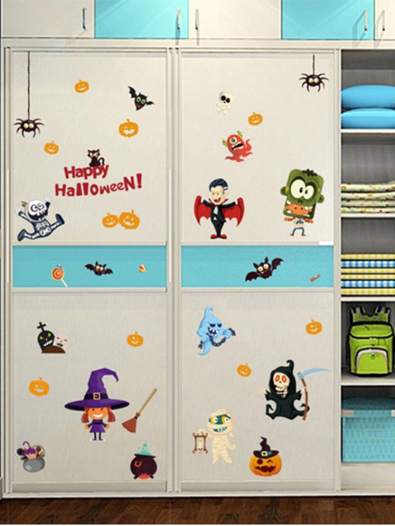 Halloween Cartoon Room Decorative Wall Stickers For Kids Rooms - COLORFUL  Mobile