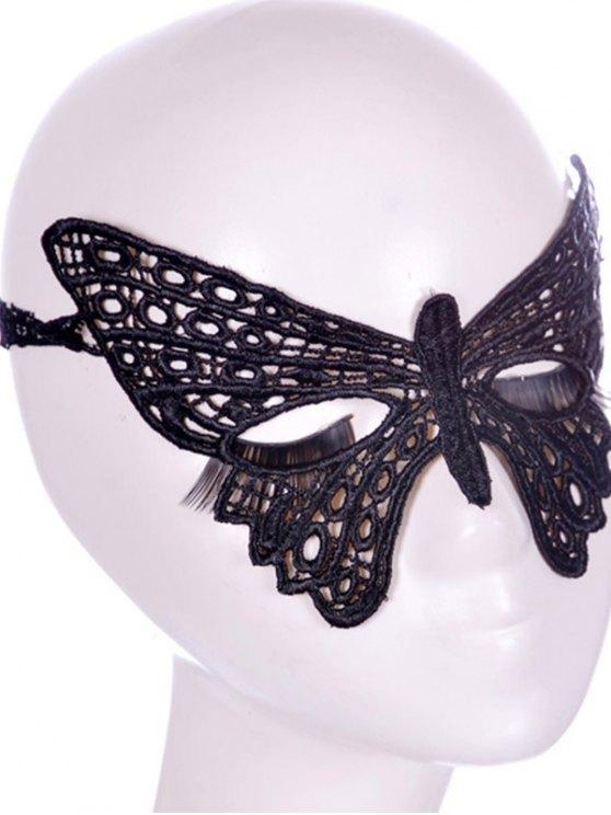 Masque Faux dentelle Papillon Bandeau Party - Noir