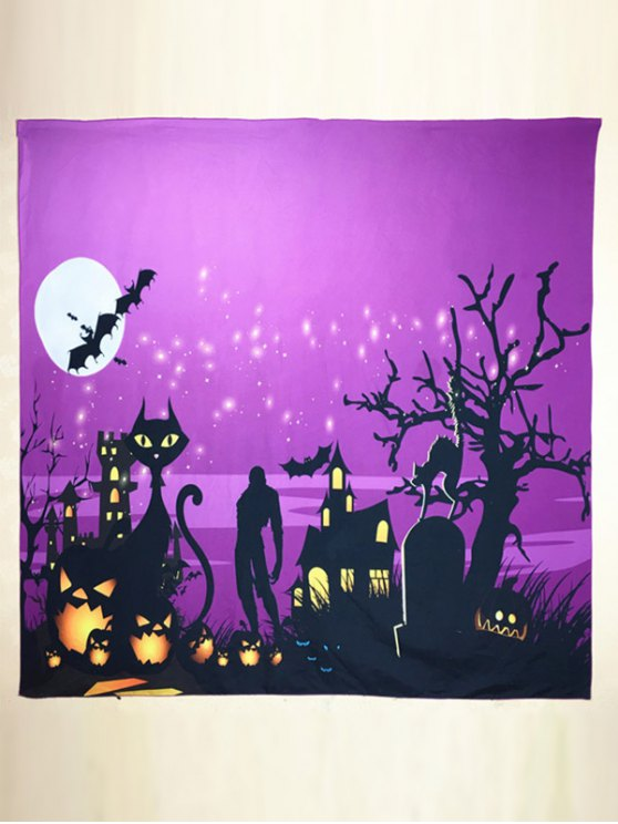 Halloween Day Night Square Scarf -   Mobile