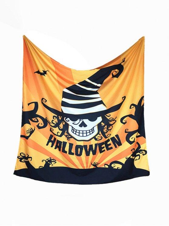 Halloween Carnival Skull Bat Pattern Big Square Scarf -   Mobile