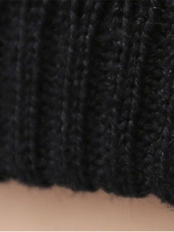 Winter knit Ski Beanie - PURPLISH BLUE  Mobile