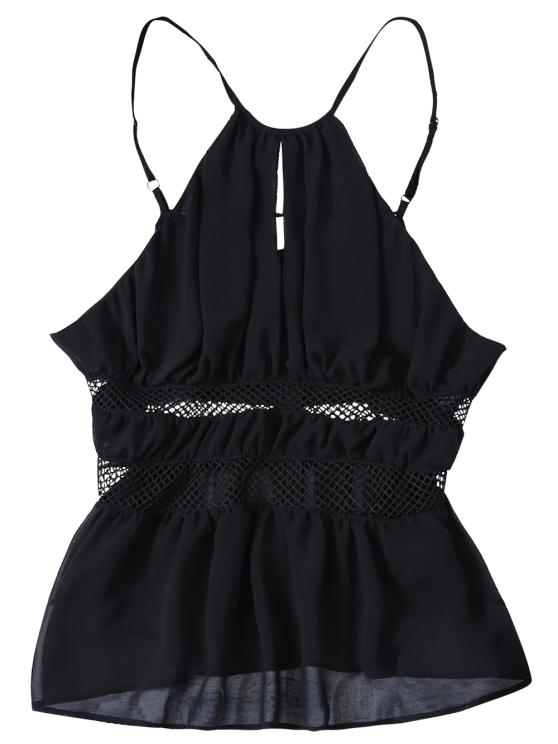 Mesh Panel Camisole - BLACK M Mobile