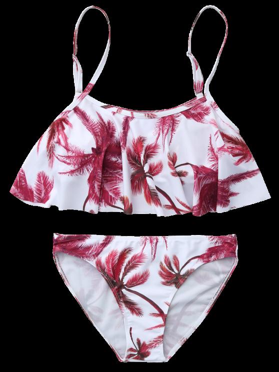 Coconut Palm Spaghetti Straps Bikini - FLORAL S Mobile