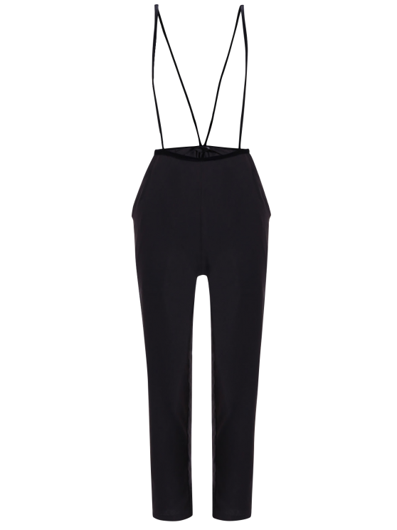 trendy Black High Waisted Pencil Pants - BLACK S