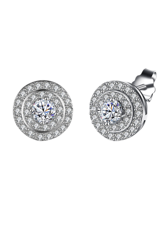 sale S925 Diamond Earrings - SILVER