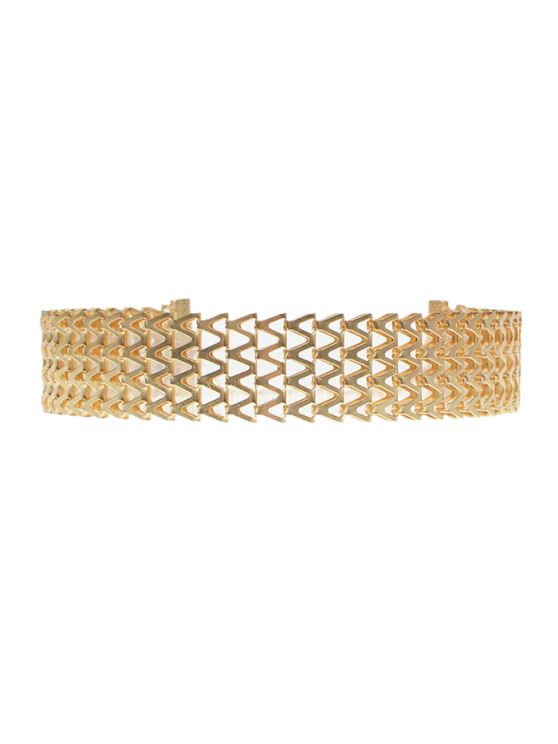 hot Geometric V Choker Necklace - GOLDEN
