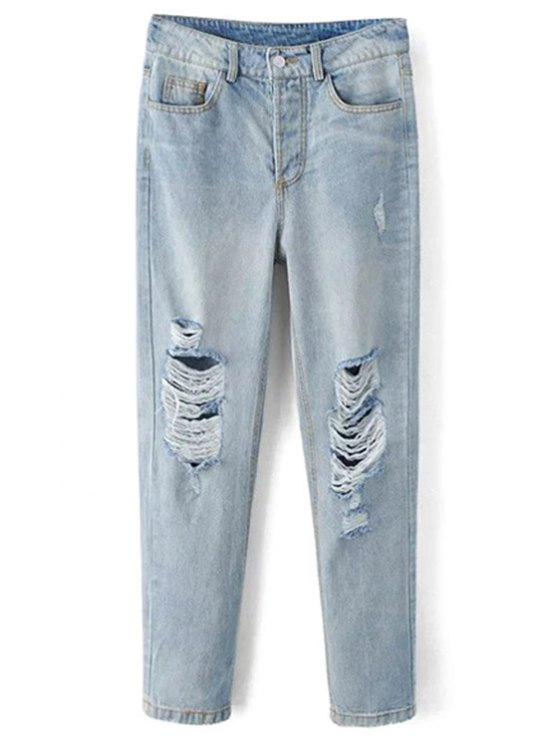 Lejía de lavado jeans rotos - Azul Claro M